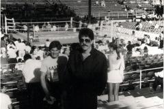 Franco-Melchioretto-im-Trainingskampf-von-Sugar-Ray-Leonard-in-Las-Vegas-1989