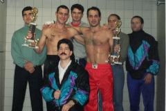 Schweizer-Meister-Norbert-Fisch-und-Antonio-Tolla-mit-Coach-Franco-1994